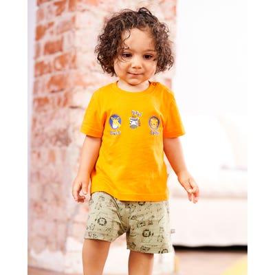 Baby-Jungen-Shorts mit Tiermuster