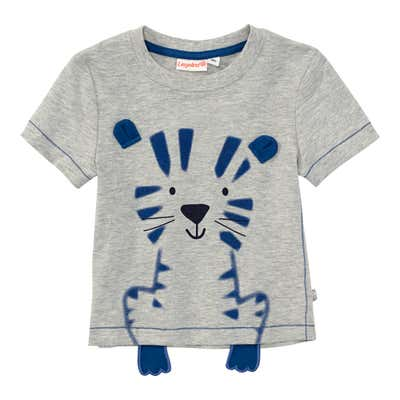 Baby-Jungen-T-Shirt mit Pfötchen-Applikation