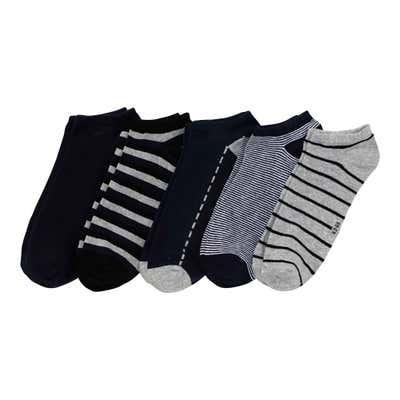 Herren-Sneaker-Socken mit verschiedenen Mustern, 5er-Pack