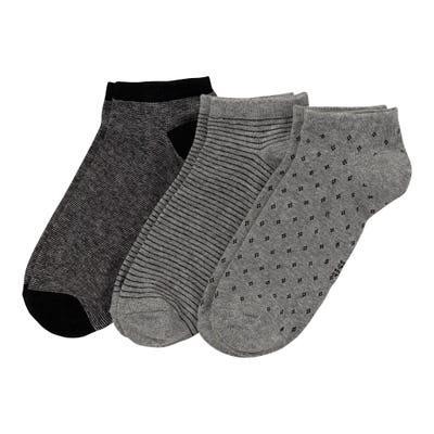 Herren-Sneaker-Socken mit verschiedenen Muster, 3er-Pack