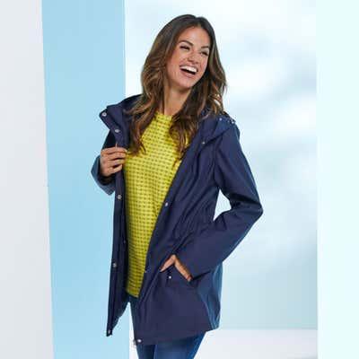 Damen-Regenjacke mit Kapuze