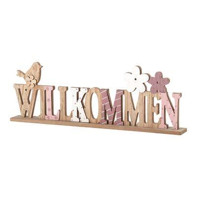 "Holz-Deko ""Willkommen"", ca. 44x5x15cm"