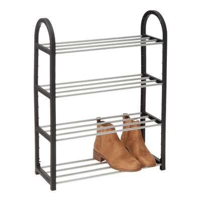 Schuhregal mit Metall, ca. 50x19x65cm