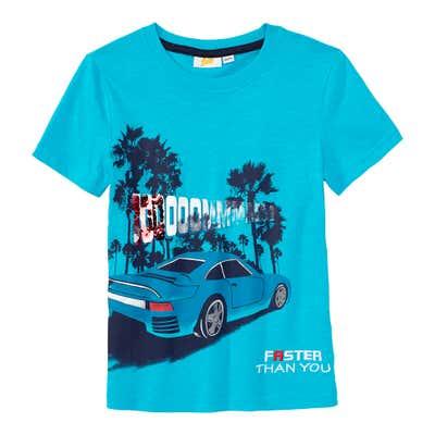Jungen-T-Shirt mit Wendepailletten