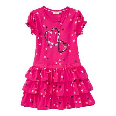 Kinder-Mädchen-Kleid mit Herzchen
