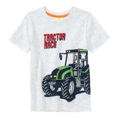 Jungen T-Shirt mit Reißverschluss-Applikation