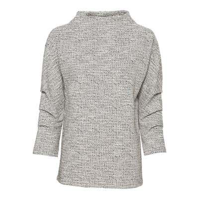 Damen-Pullover mit Zierfalten