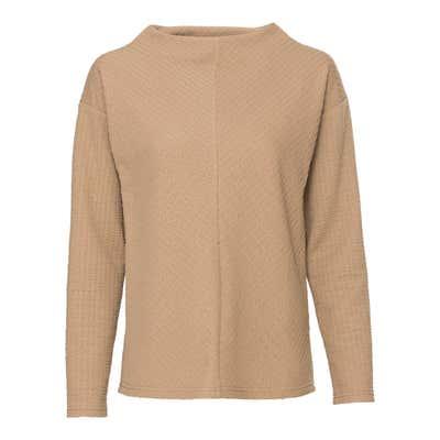 Damen-Sweatshirt mit Ripp-Effekt