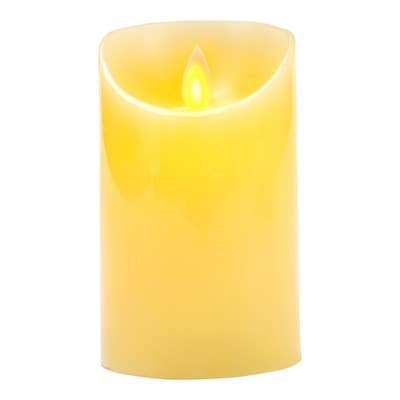 LED-Kerze mit beweglichem Docht, ca. 8x13cm