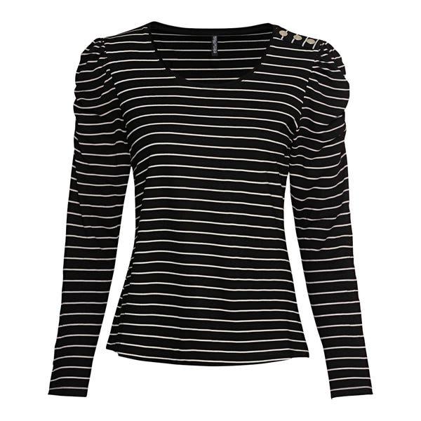 Damen-Shirt mit Raffung an der Schulter