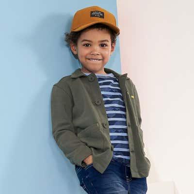 Kinder-Jungen-Sweathemd mit Knöpfen