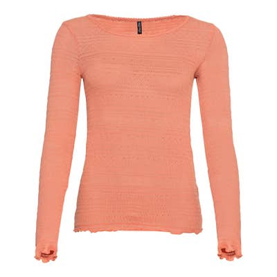 Damen-Shirt mit Ajourmuster