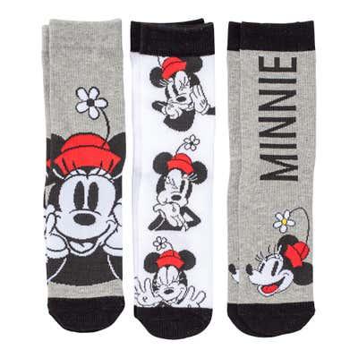 Disney Damen-Socken, 3er Pack