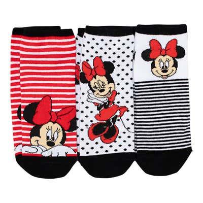 Damen-Sneaker-Socken mit Disney-Aufdruck, 3er-Pack