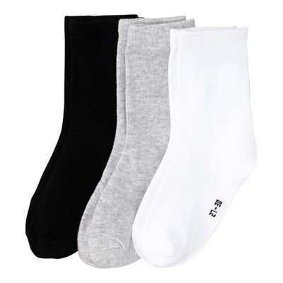 Jungen-Socken mit Baumwolle, 3er-Pack