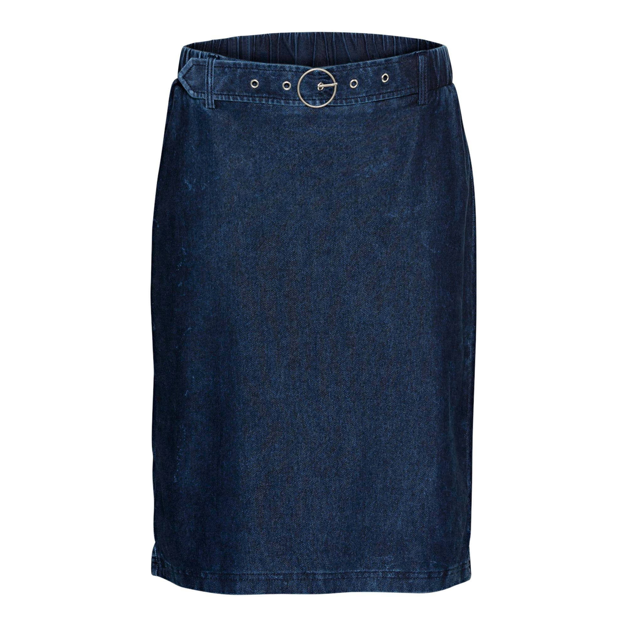 damen-rock in jeans-optik, mit gürtel