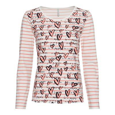 Damen-Shirt mit Herzdesign