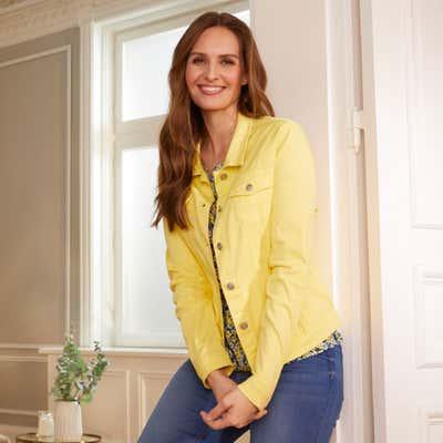 Damen-Jeansjacke mit 2 Brusttaschen