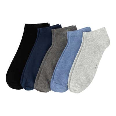 Herren-Sneaker-Socken in Melange-Optik, 5er-Pack