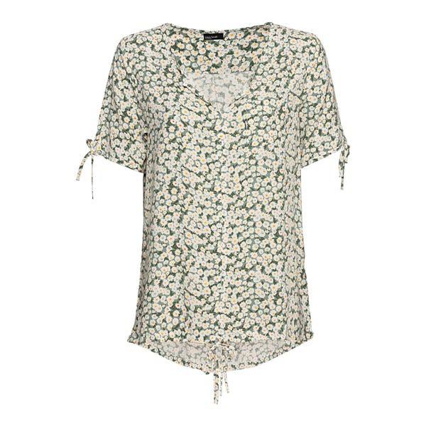 Damen-Bluse mit Bindebändern