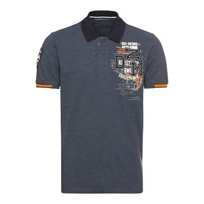 Herren-Poloshirt mit Applikation