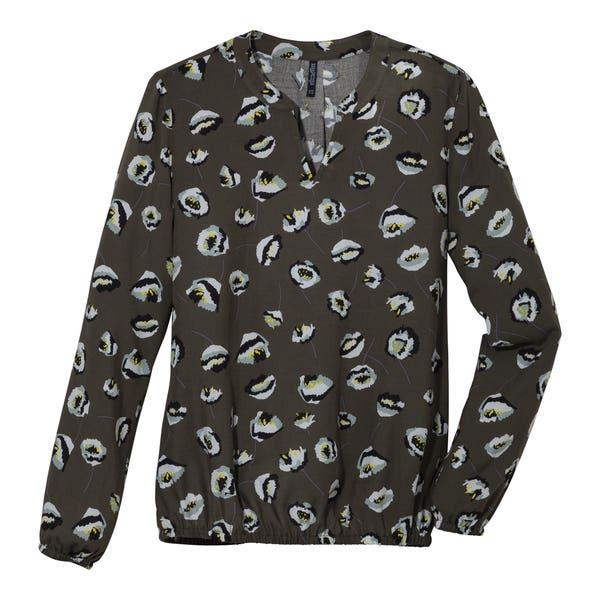 Damen-Bluse mit ausgefallenem Muster