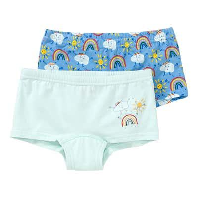 Mädchen-Panty mit Regenbogen-Muster, 2er-Pack