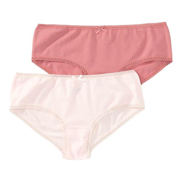 Mädchen-Panty mit Spitzenverzierung, 2er-Pack