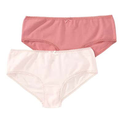 Mädchen-Panty mit Spitzenverzierung, 2er Pack