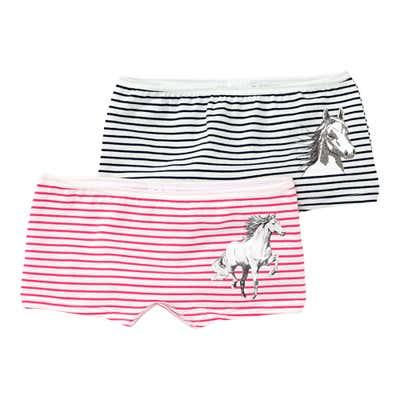 Mädchen-Panty mit Pferde-Aufdruck, 2er Pack