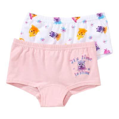 Mädchen-Panty mit Monster-Muster, 2er-Pack