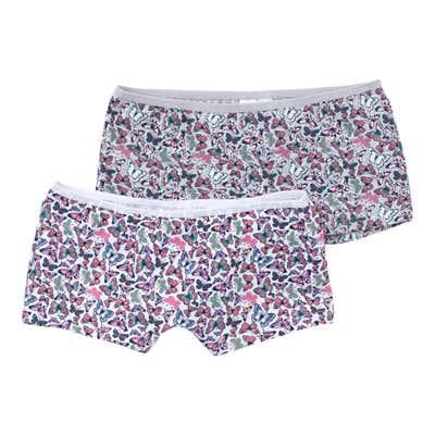 Mädchen-Panty mit Schmetterlings-Motiv, 2er-Pack