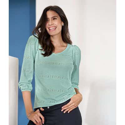 Damen-T-Shirt mit Keulenärmeln