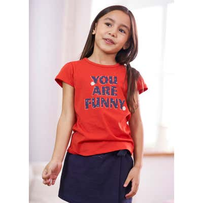 Kinder-Mädchen-T-Shirt mit tollem Spruch