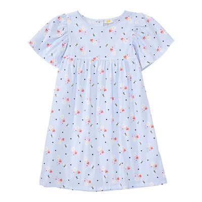 Mädchen-Kleid mit gerafften Ärmeln