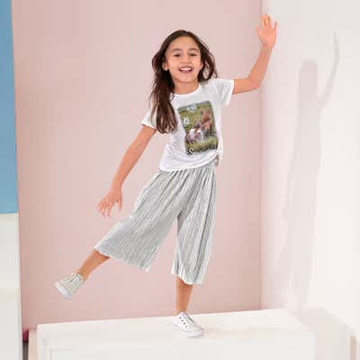 Kinder-Mädchen-T-Shirt und Hose-Set