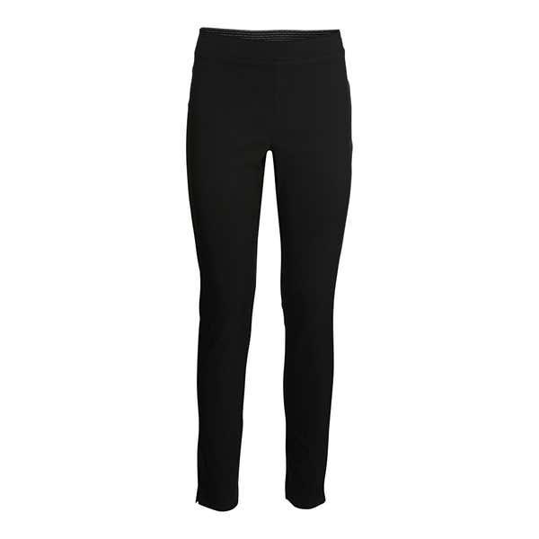 Damen-Stoffhose mit elastischem Einsatz