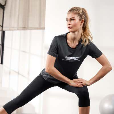 Damen-Fitnesshose mit Streifenmuster