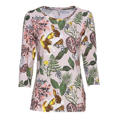 Damen-Shirt mit tropischem Muster