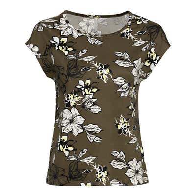 Damen-T-Shirt im floralem Design