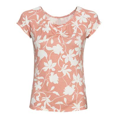 Damen-T-Shirt mit Blumenmuster