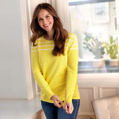Damen-Pullover mit Kombi-Muster