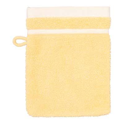 Waschhandschuh mit Streifen-Bodüre, 16x21cm