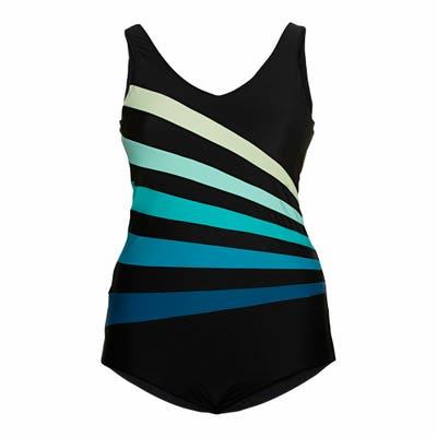 Damen-Badeanzug mit Streifen
