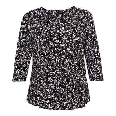 Damen-Bluse mit Blümchen-Muster, große Größen
