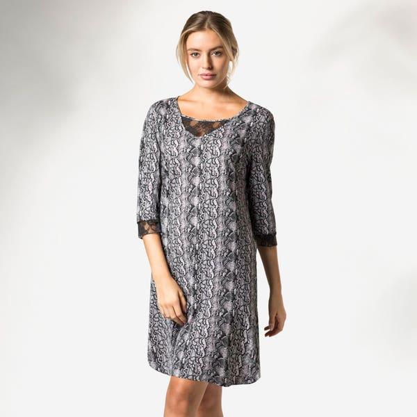 Damen-Nachthemd mit Schlangenmuster