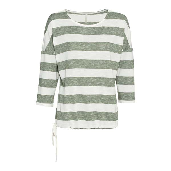 Damen-Shirt mit Schnürung am Saum