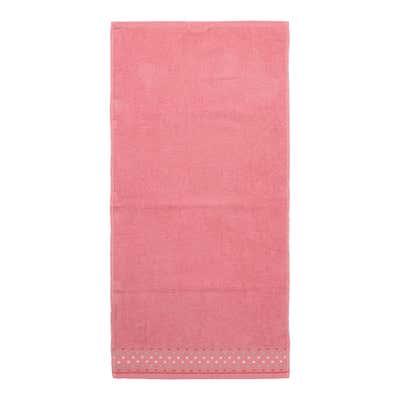 Handtuch mit Punkte-Bordüre, ca. 50x100cm