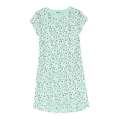 Kinder-Mädchen-Nachthemd mit floralem-Design