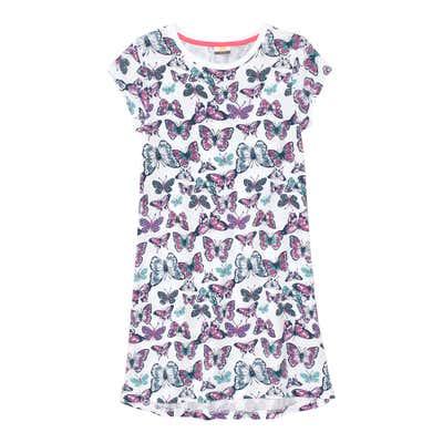 Mädchen-Nachthemd im Schmetterlings-Design